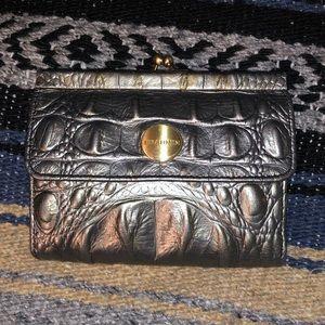 Brahmin Metallic Silver Wallet